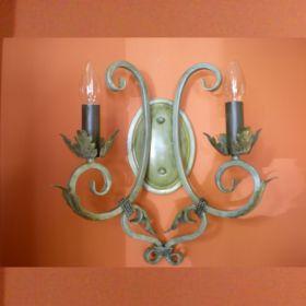 wandlamp-smeedijzer-groen