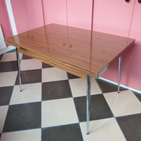 extendable-table-chrome-formica-woodprint-vintage-60s-70s