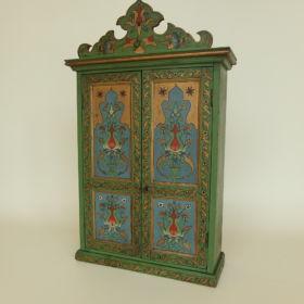 kast-beschilderd-groen-antiek-1910