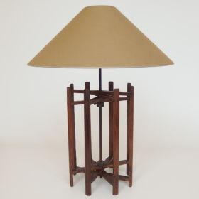 lamp-hout-spoel-weefgetouw-antiek-20e eeuw