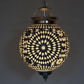 hanglamp-mozaiek-glas-zwart-wit