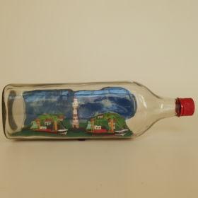 boten-in-fles-Nieuwpoort-België-1974