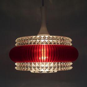 hanglamp-kunststof-ribbelband-rood-vintage-1970