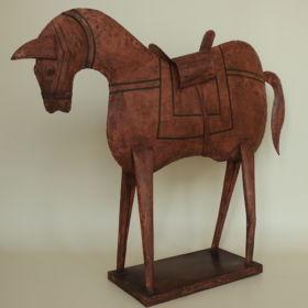 paard-metaal-beschilderd