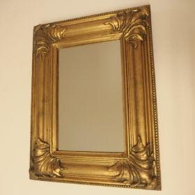 mirror-frame-wood-gold-leaf