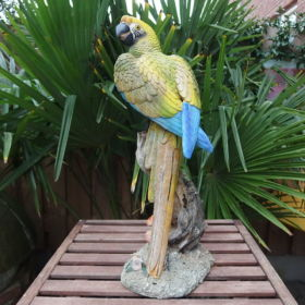 parrot-resin-20th-century-yellow-blue